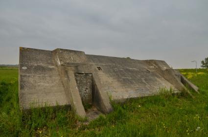 Groepsschuilplaats Type 1918II Voorstelling bij Spaarndam © B. van Veen
