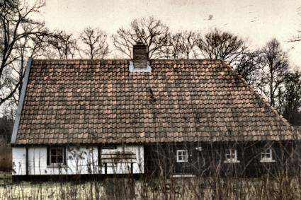 Koloniehuisje aan de Jongkindt Conincklaan te Boschoord (Drenthe). © Drents Archief (Collectie gemeente Vledder - Vl070103004)